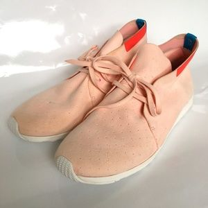 Native Apollo Shoe Sneakers Pink Moc Suede Lace Up